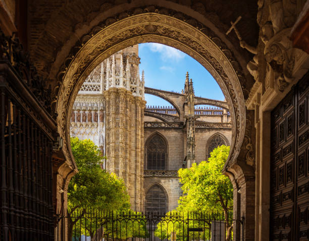 Seville Cathedral Spain Seville Cathedral Spain santa cruz seville stock pictures, royalty-free photos & images