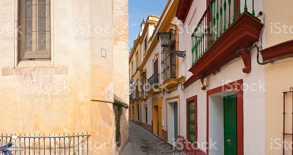 Seville colorful villas narrow streets royalty-free stock photo