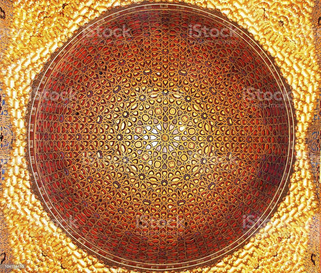 Sevilla, cúpula Real alcázar embajadores de la habitación - foto de stock