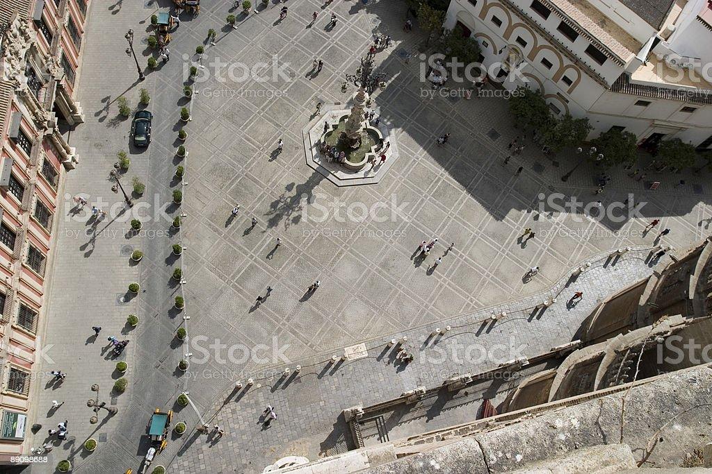 Seville fountain royalty-free stock photo