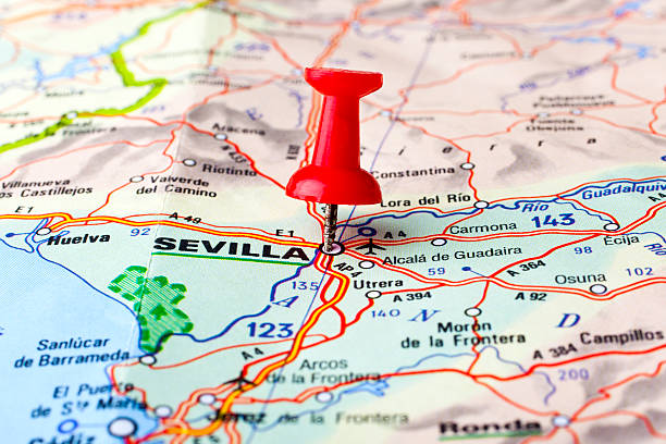 Royalty Free Seville Map Sevilla Spain Pictures, Images and Stock ...