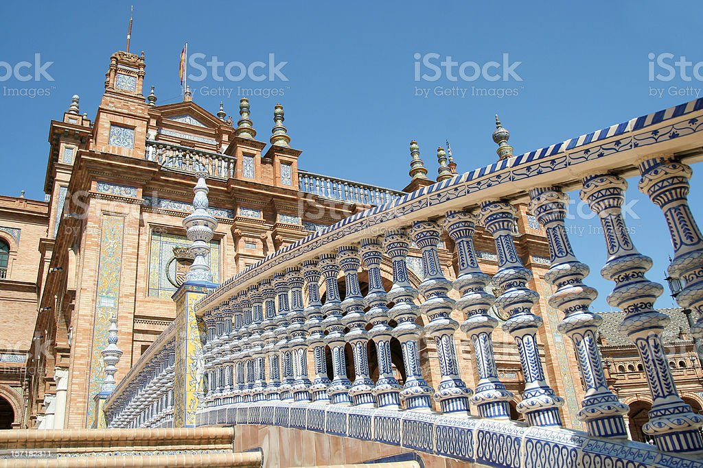 Seville, Plaza de Espana royalty-free stock photo