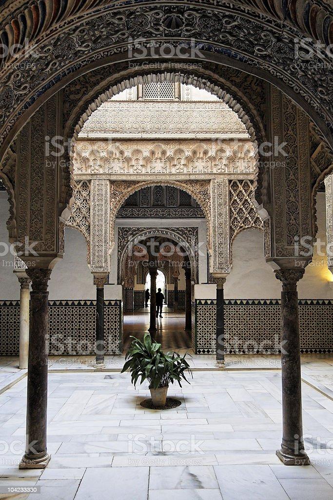 Sevilla, Real alcázar árabe arquitectura - foto de stock