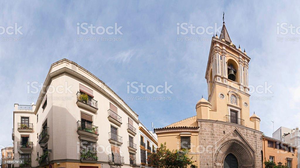 Seville Santa Cruz bells and balconies stock photo
