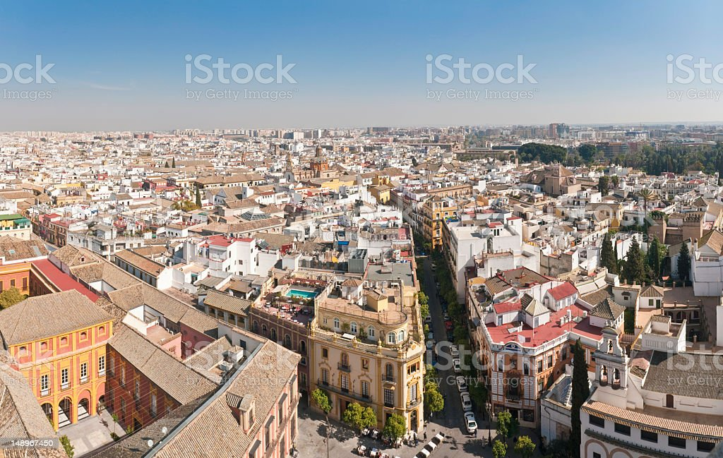Seville Santa Cruz cityscape Spain stock photo