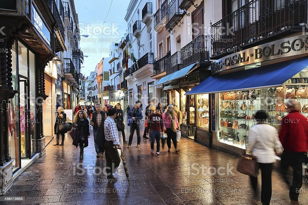 Seville shopping royalty-free stock photo