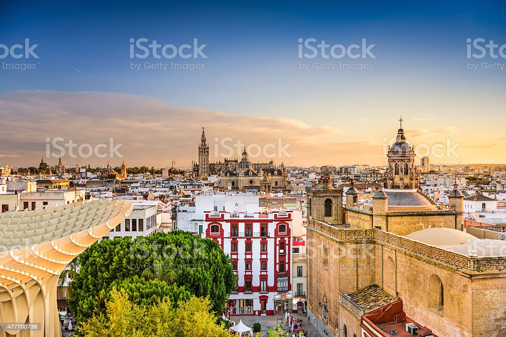 Seville Skyline stock photo
