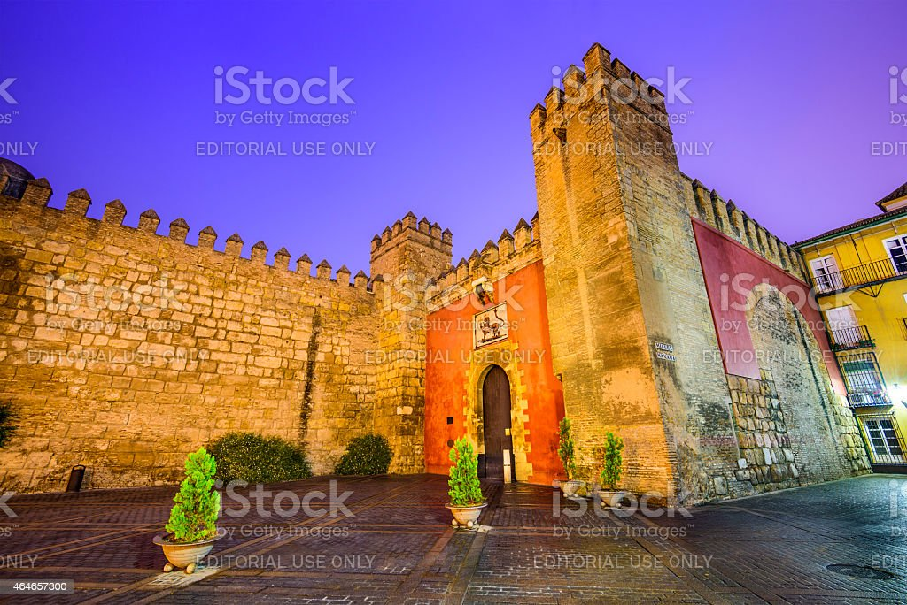 Seville, Spain Royal Alcazars stock photo