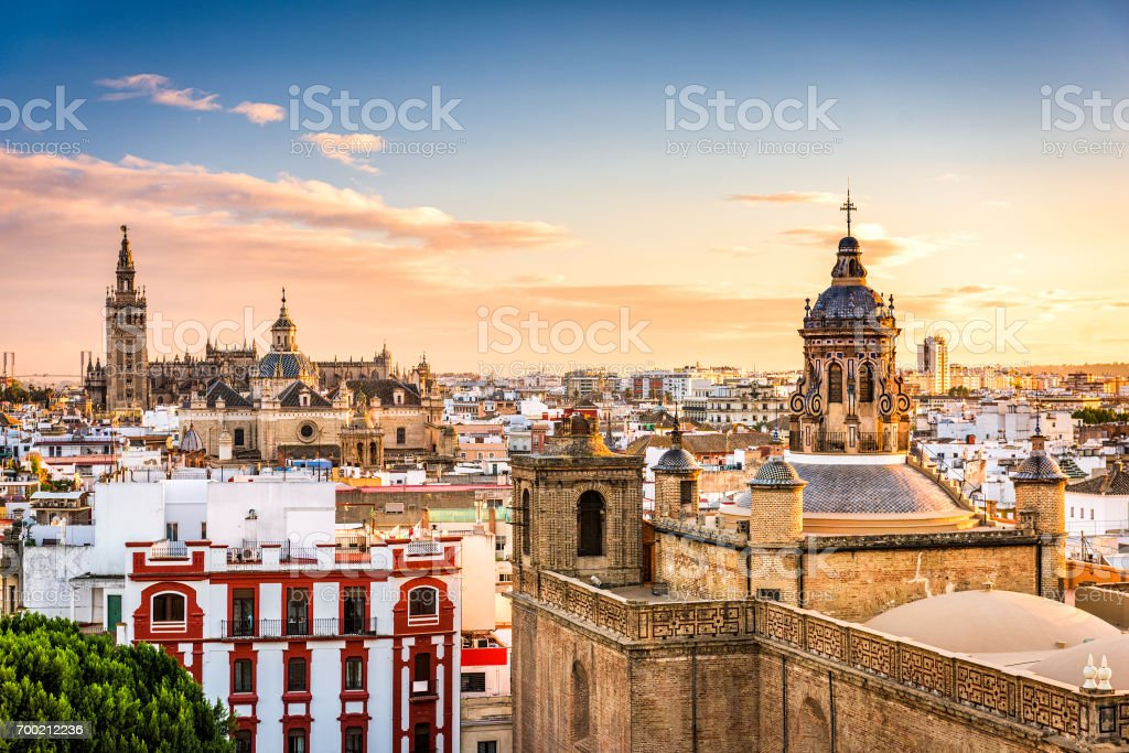 Seville, Spain Skyline stock photo