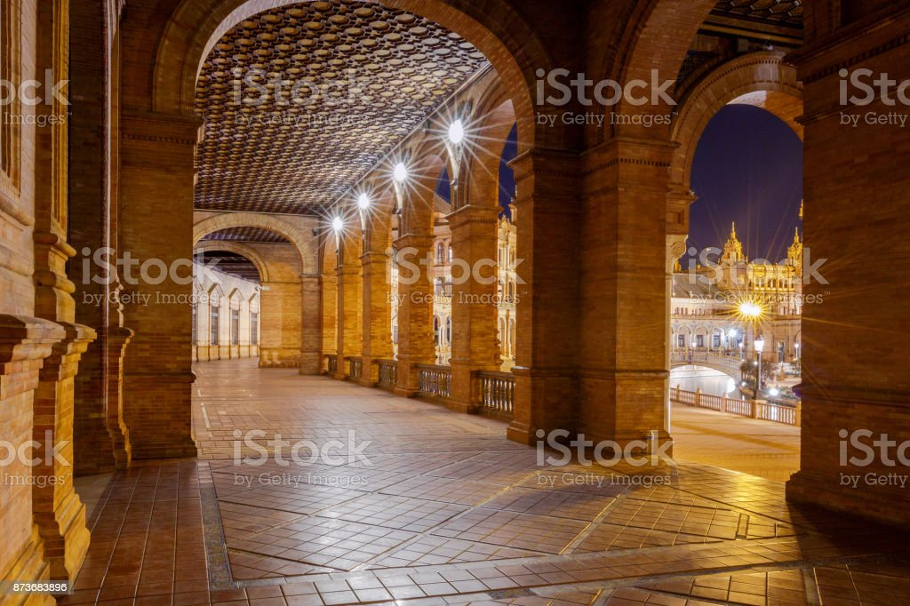 Seville. Spanish Square or Plaza de Espana. stock photo