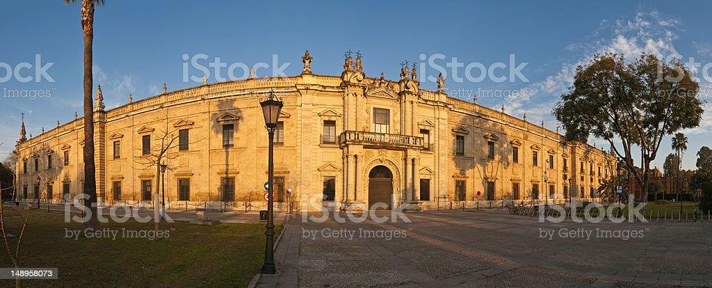 Seville sunrise Universidad panorama royalty-free stock photo