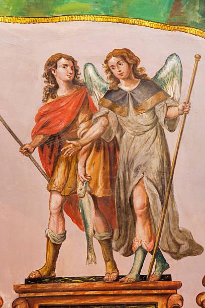 Sevilha-barroca fresco de Rafael Arcanjo - foto de acervo