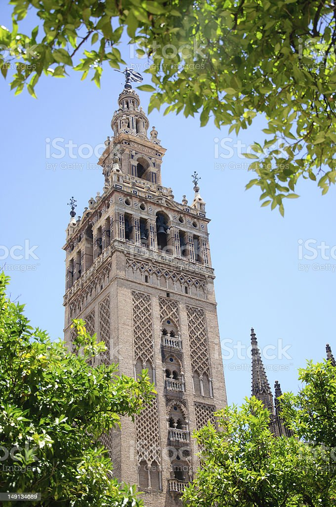 Seville: the Giralda Tower royalty-free stock photo
