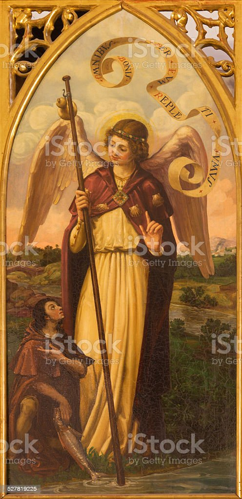 Sala Seville-la pintura del arcángel Raphael - foto de stock