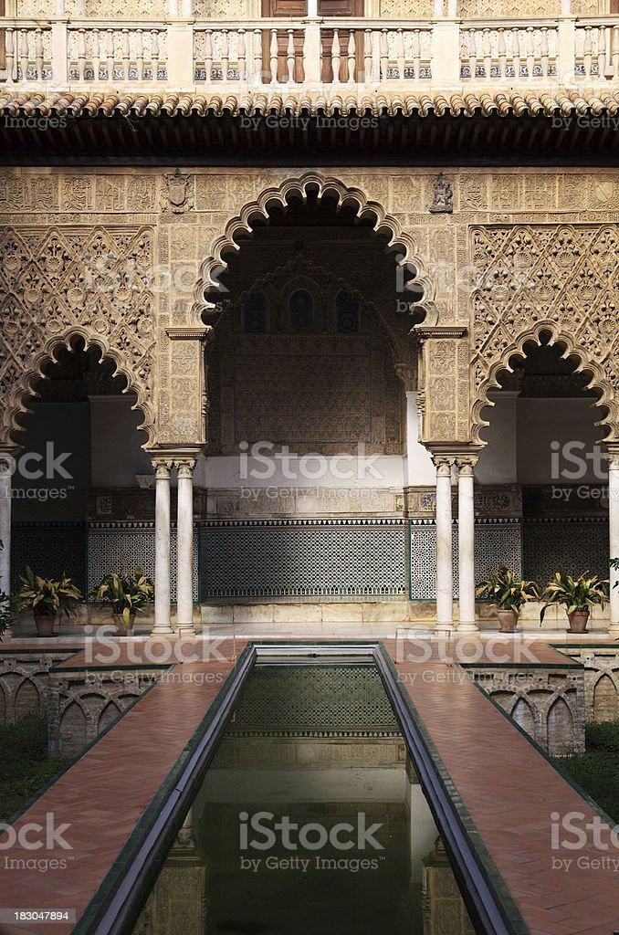 Seville (Sevilla). The Royal Alcazar. Patio de las Doncellas stock photo