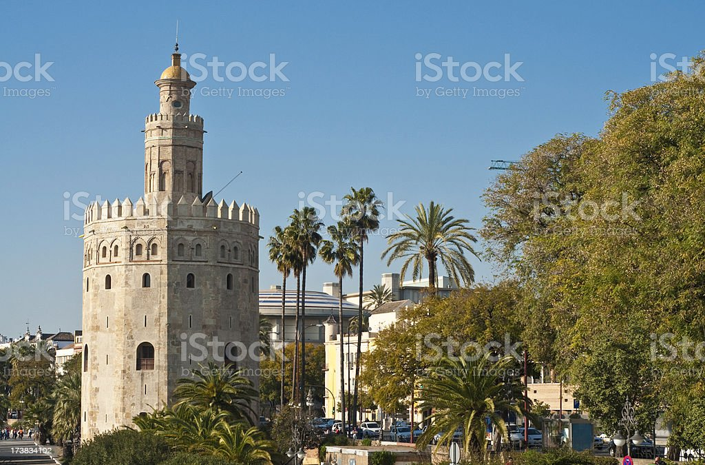 Seville Torre del Oro Andalusia Spain royalty-free stock photo