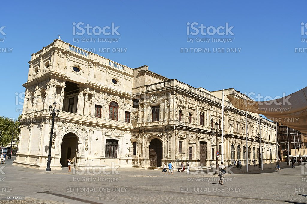 Seville Town Hall, Spain royalty-free stock photo