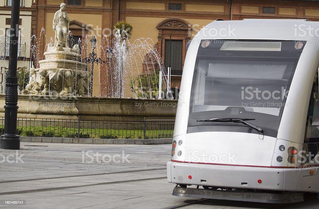 Seville Tram stock photo