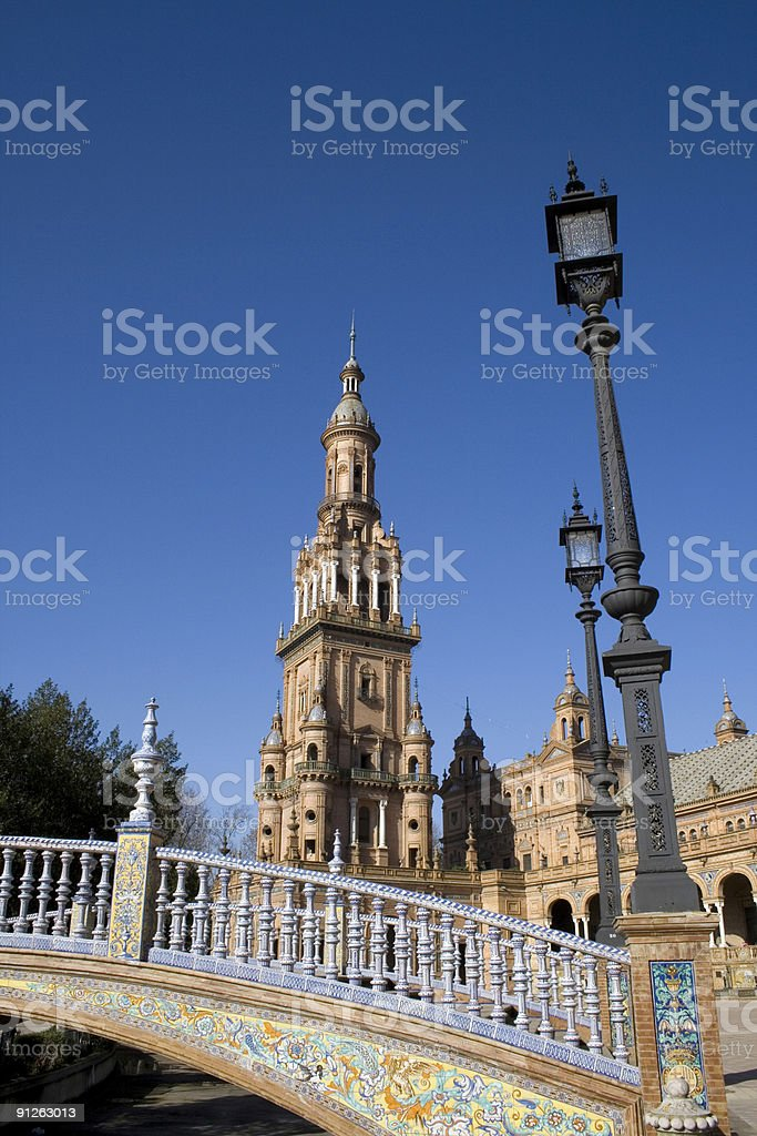 Seville,Spain - Plaza de Espana royalty-free stock photo