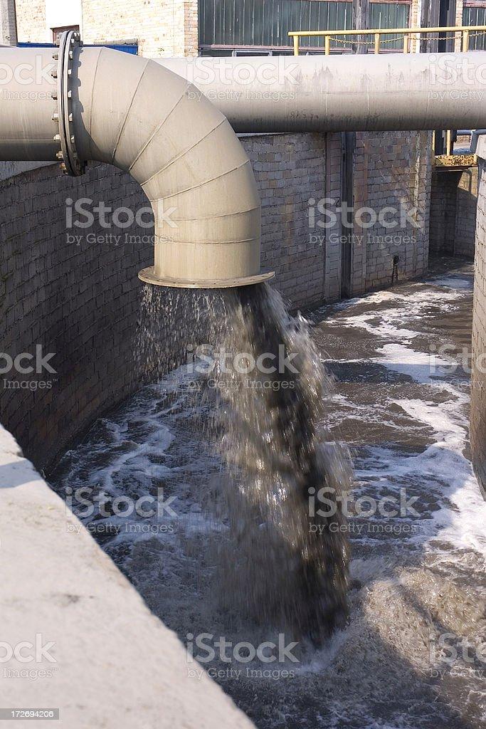 Sewage Pipe royalty-free stock photo