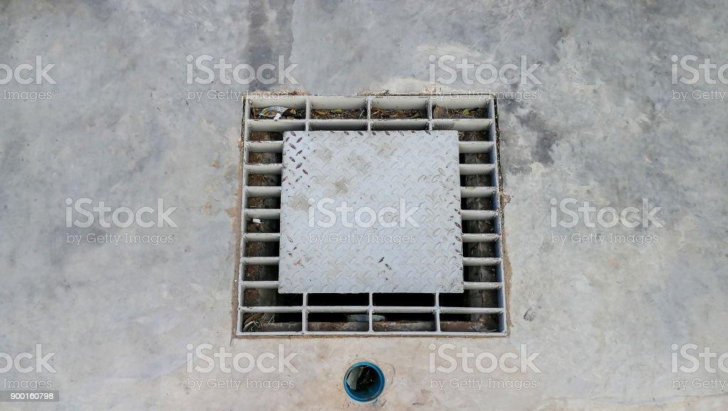 Sewage, Rain, Flood, Gutter, Sidewalk stock photo