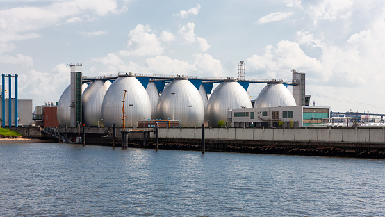 Sewage treatment plant, Hamburg, Germany