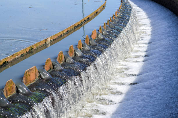 Sewage Treatment Plant Sewage treatment Plant, decantation step sewage treatment plant stock pictures, royalty-free photos & images
