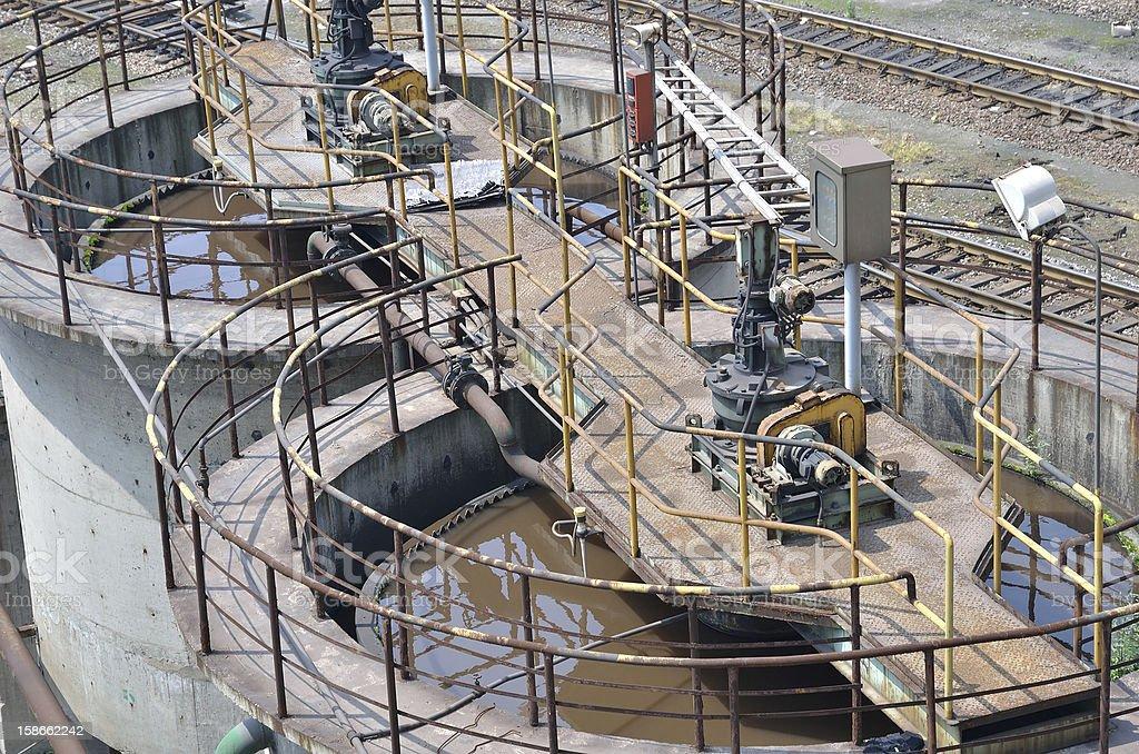 Sewage Treatment Plant royalty-free stock photo