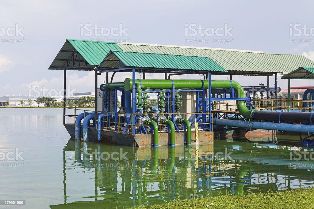 Sewage water treatment station royalty-free stock photo