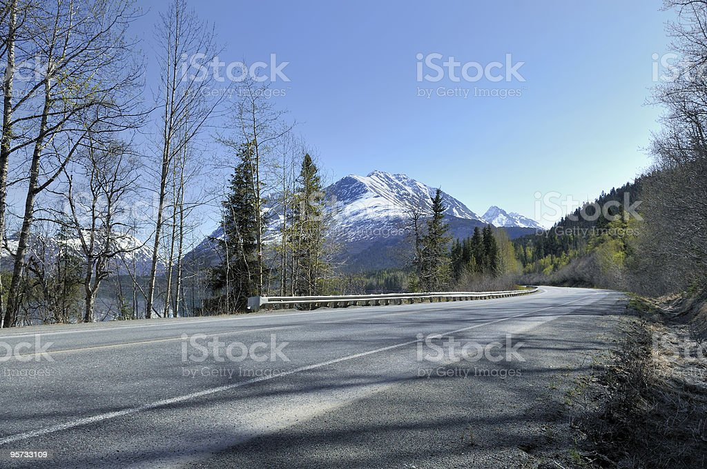 Seward Highway Evening View royalty-free stock photo