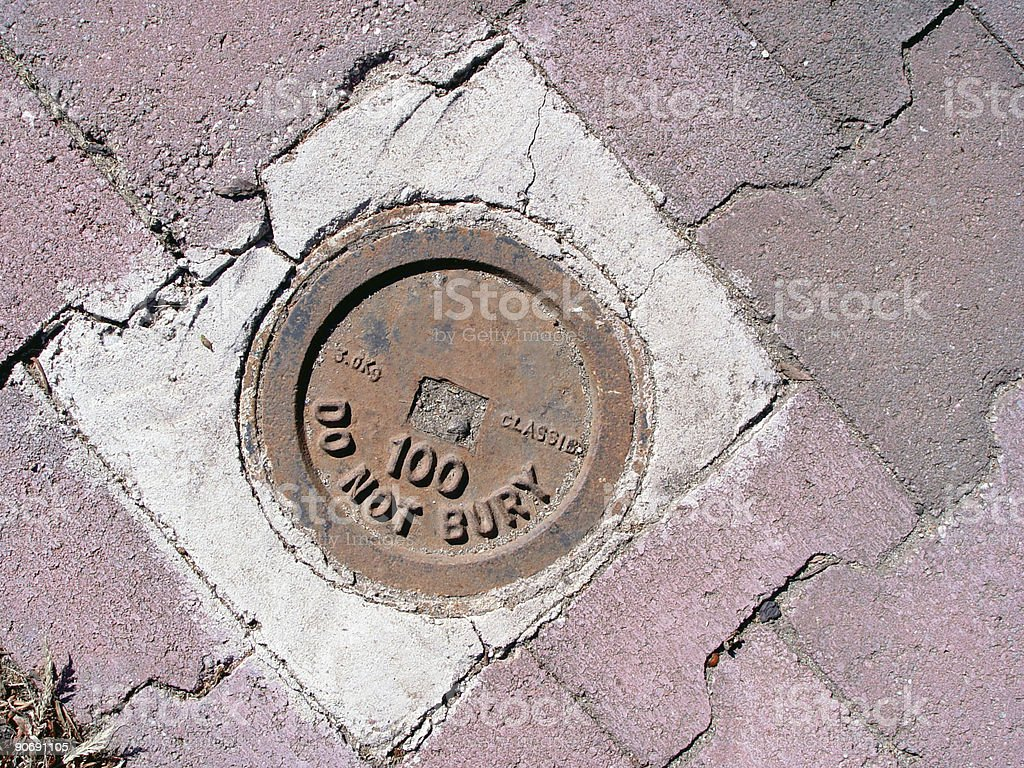 Sewer cap royalty-free stock photo