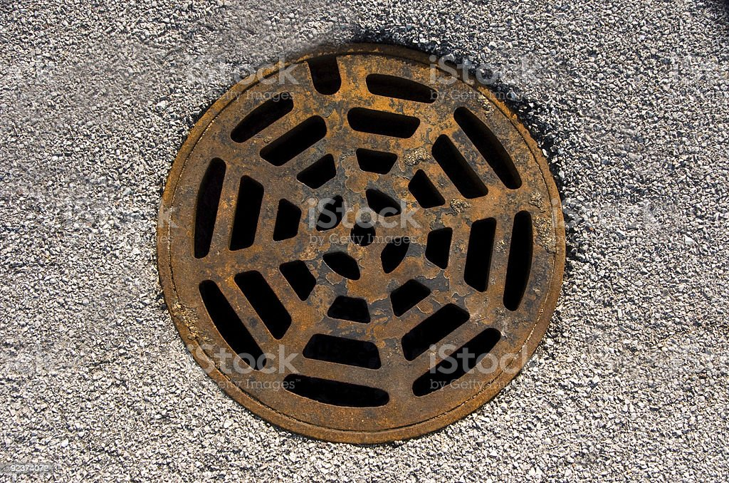 Sewer drain royalty-free stock photo