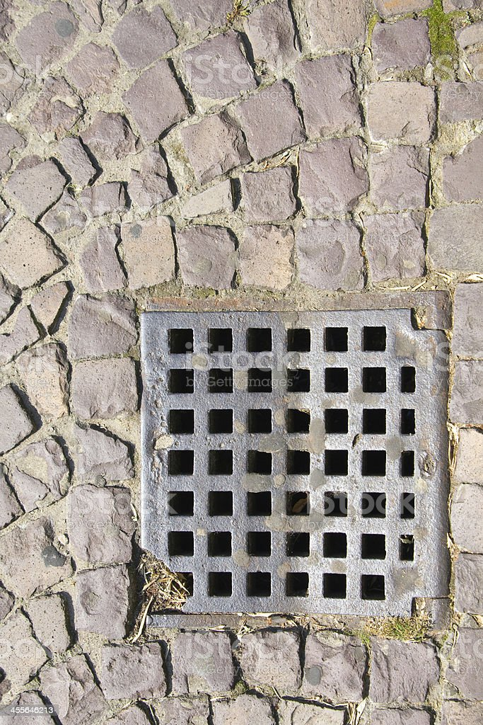 sewer grate royalty-free stock photo