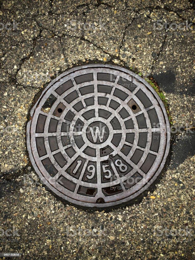 Sewer Manhole stock photo
