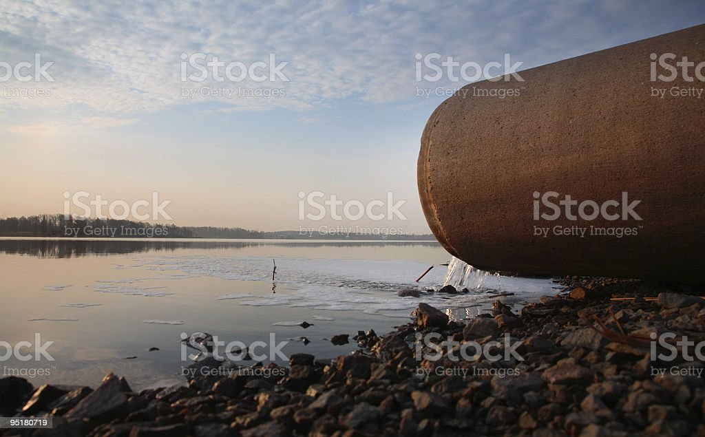 Sewer pipe stock photo