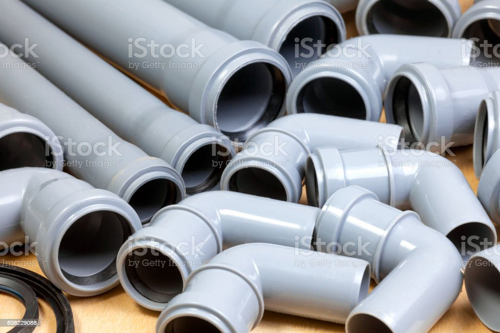 Sewer pipes background stock photo