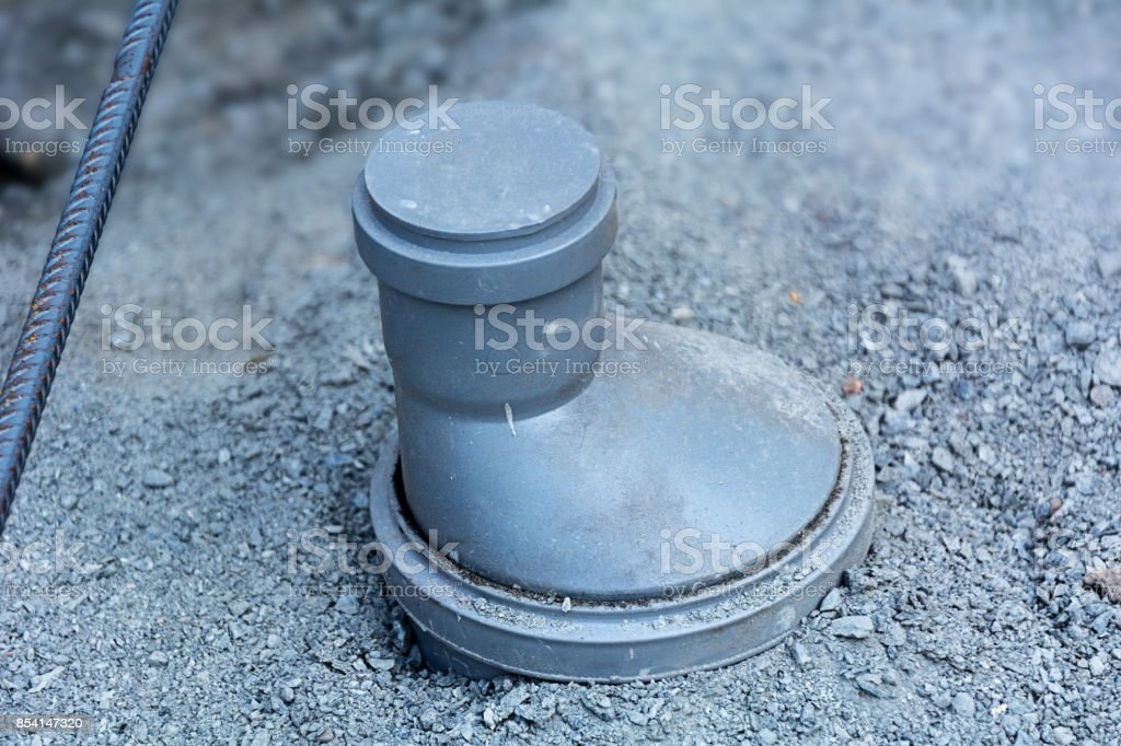 Sewer pipes stock photo
