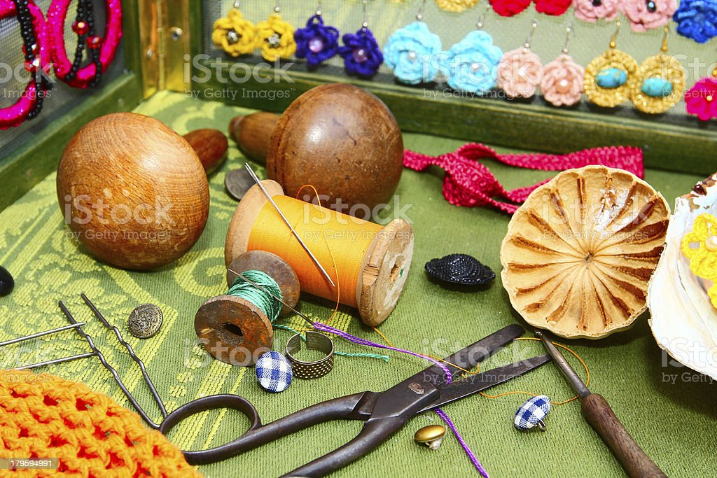 Sewing art royalty-free stock photo