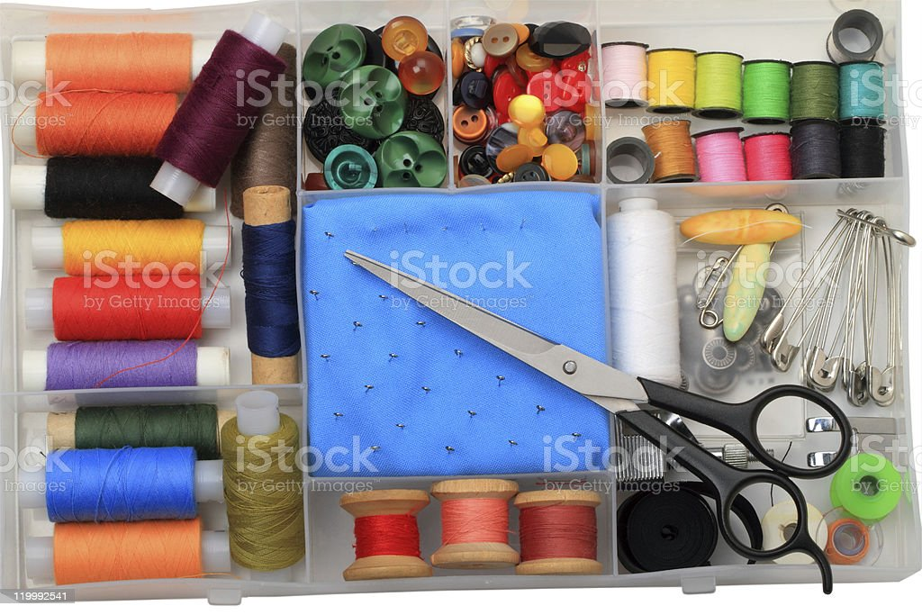 Sewing at home royalty-free stock photo