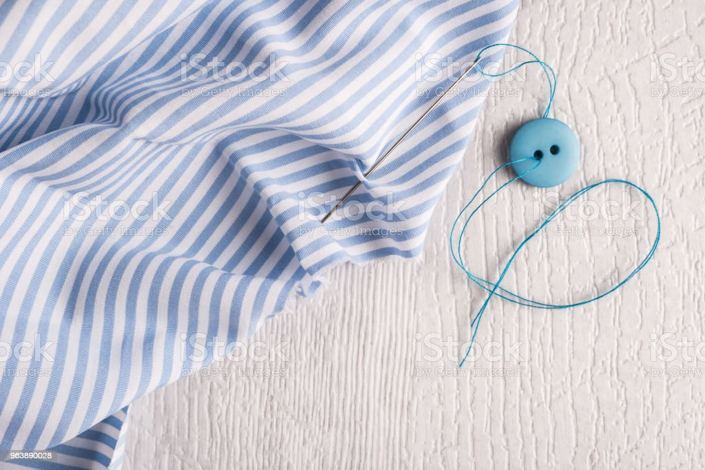 Sewing background. Accessories for needlework - Royalty-free Ball Of Wool Stock Photo