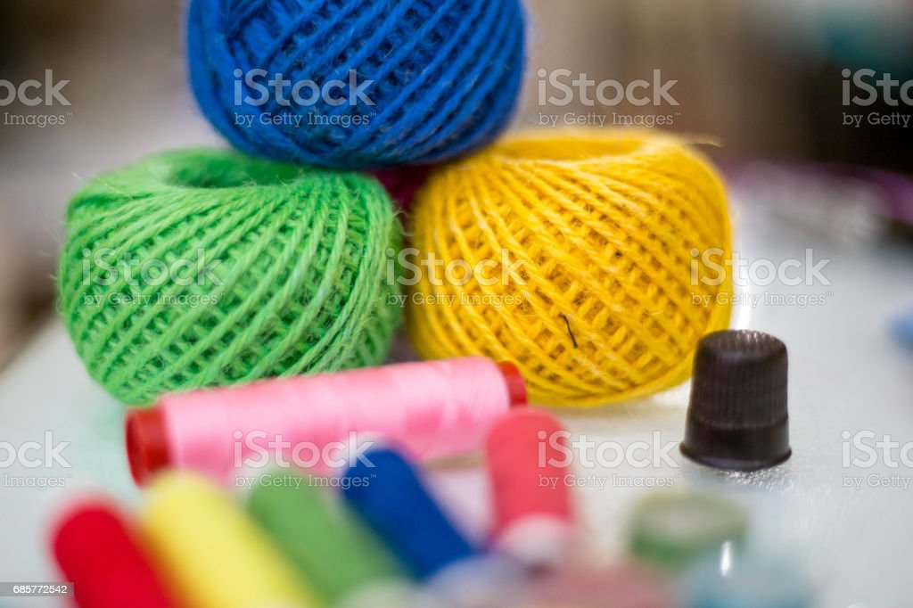 Sewing background royalty-free stock photo