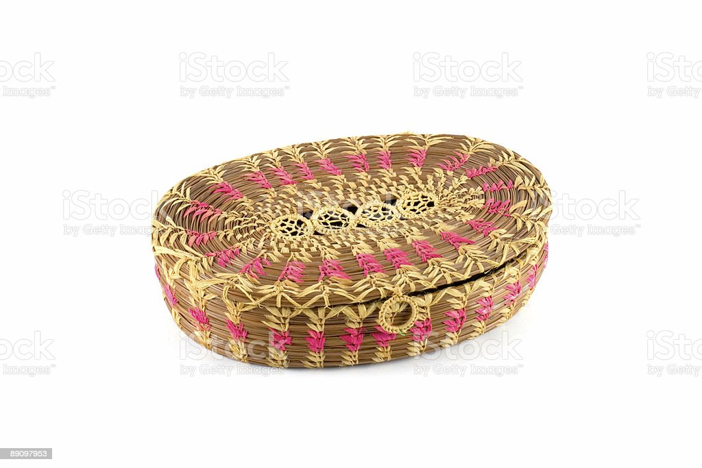 Sewing basket closed royalty-free stock photo