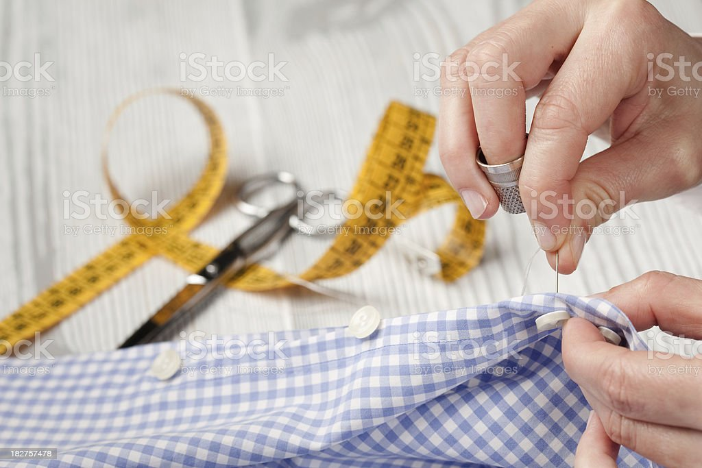Sewing button royalty-free stock photo