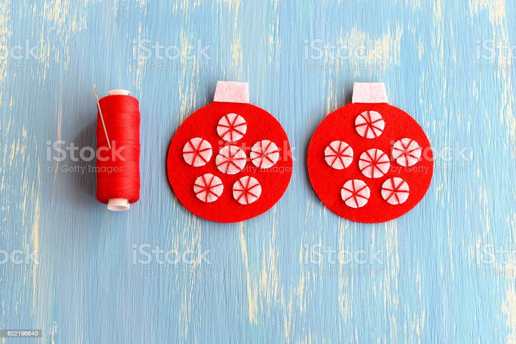 Sewing Christmas Tree Ornament Step Stock Photo Download Image Now Istock