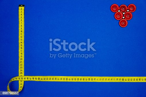 istock Sewing concept. Measuring tape. 698766552