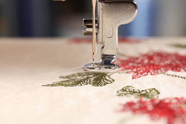 sewing - embroidering - embroidery machine stock pictures, royalty-free photos & images