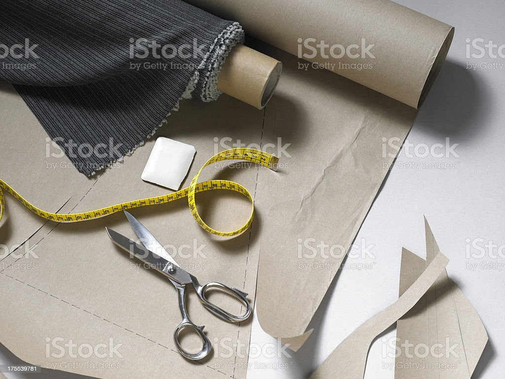 Sewing equipment stock photo