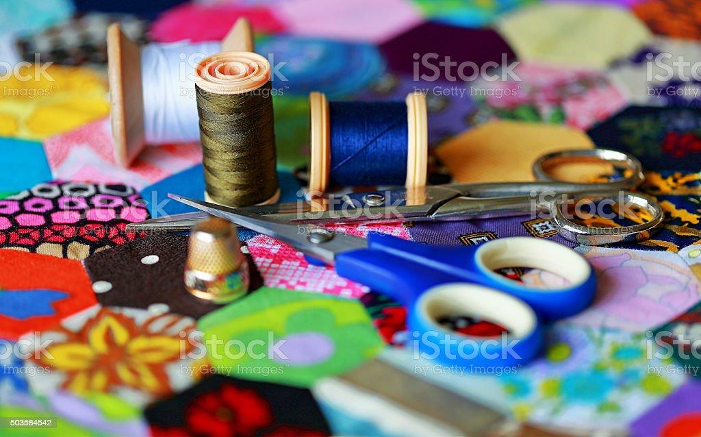 Equipamento de costura - foto de acervo
