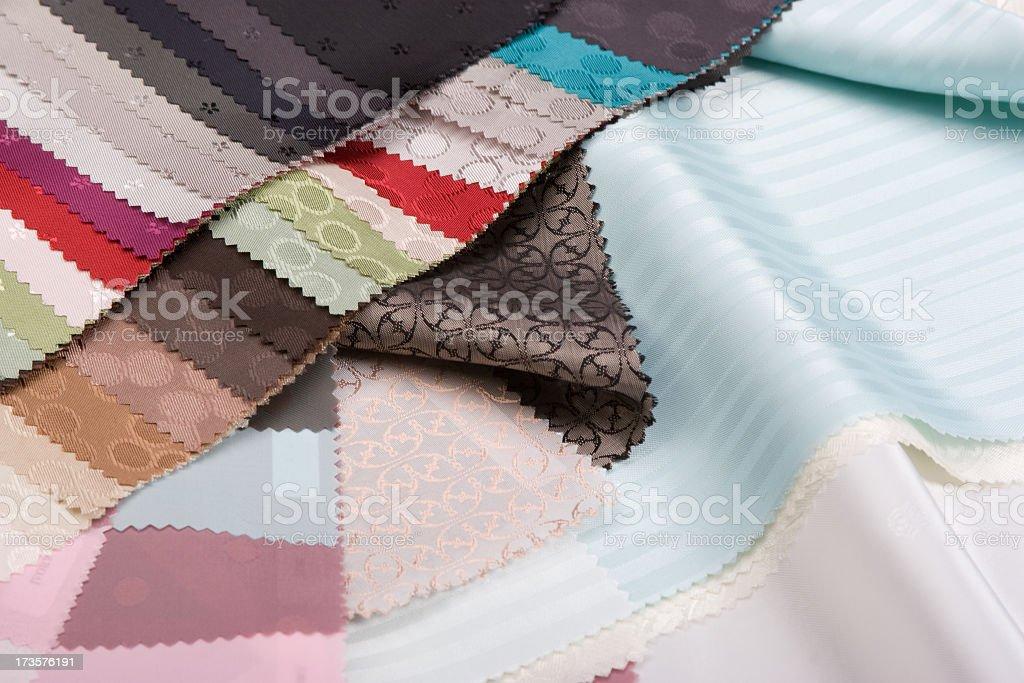 sewing fabrics royalty-free stock photo