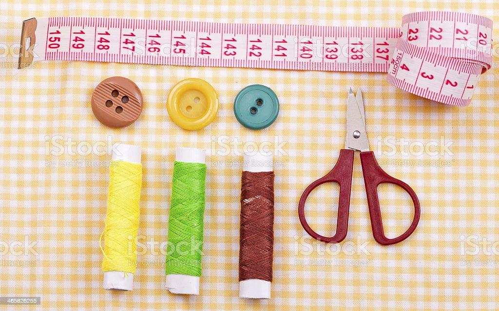 sewing kit stock photo
